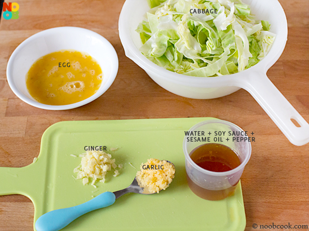 Ingredients for Cabbage Eggs