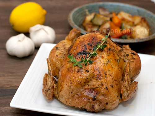 Roast Chicken with Garlic, Lemon & Thyme