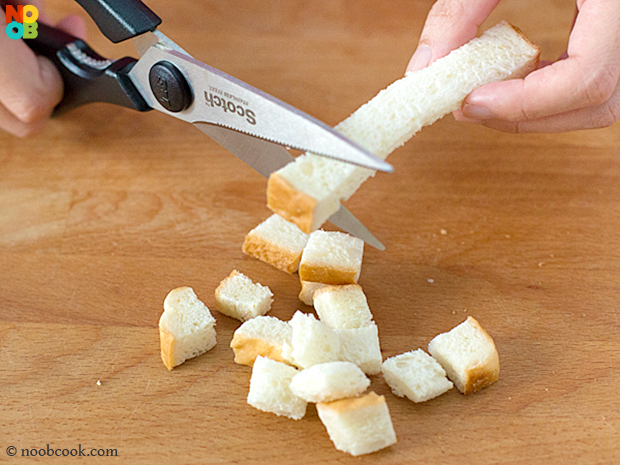 Making Croutons (Step-by-Step)
