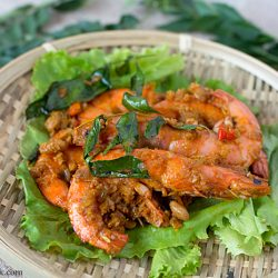 Kam Heong Prawns