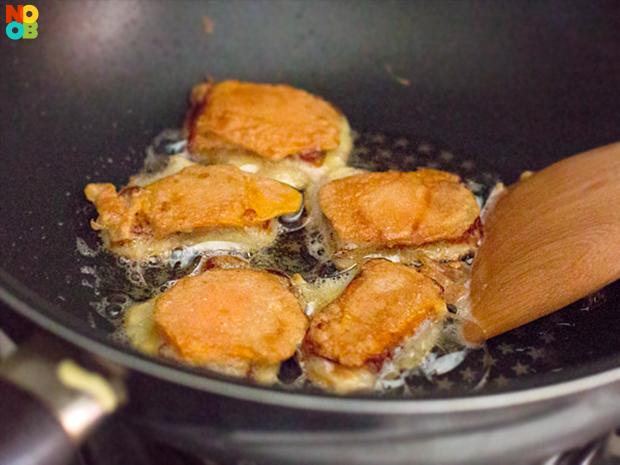how to make pan fried sweet potato chips