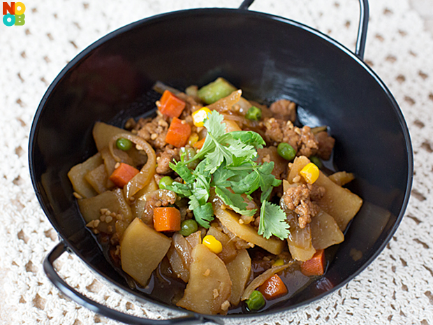 Potato and Pork Stir-Fry
