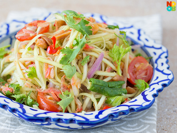 Thai green mango salad