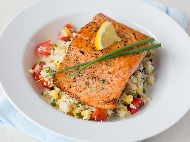 Grilled Salmon with Couscous Salad