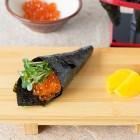 Ikura Temaki (Salmon Roe Handroll)