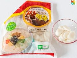 Korean flat oval rice cakes (dukguk)