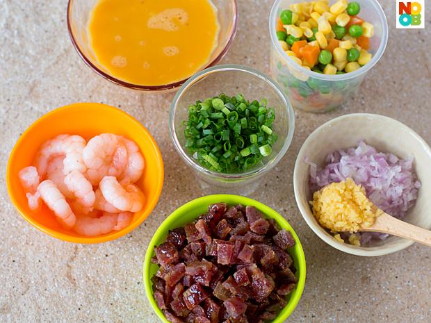 Bak Kwa Fried Rice Recipe (Ingredients)