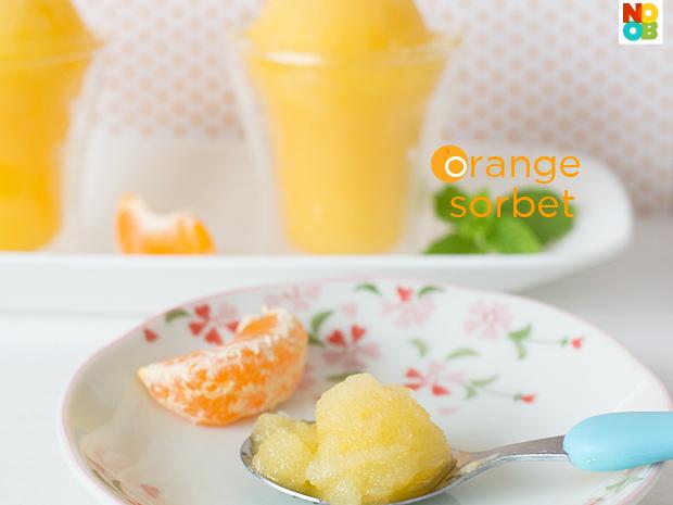 Orange Sorbet Recipe — Dishmaps