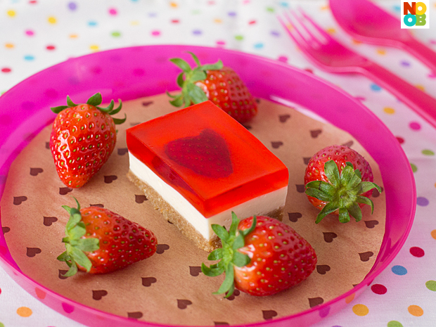 Strawberry Jelly Hearts Cheesecake Recipe