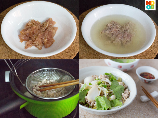 Cooking Minced Pork (Bak Chor)