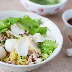 Fish Ball Minced Pork Noodles Recipe