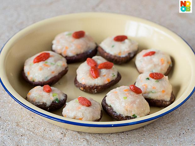 Steamed Stuffed Mushrooms Recipe