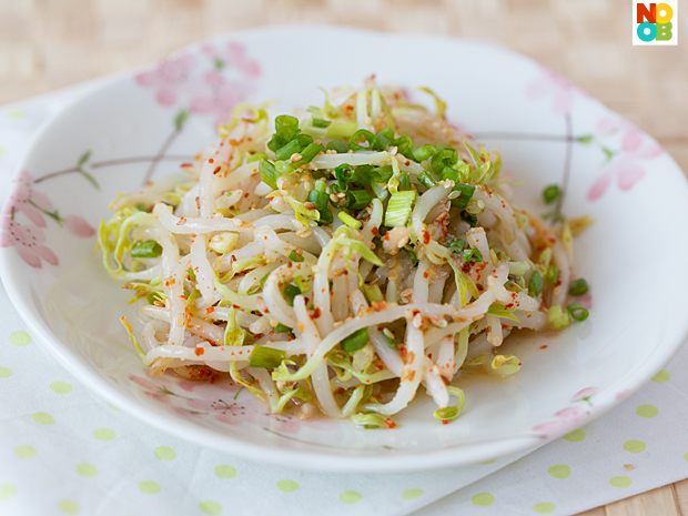 Korean Mung Bean Sprouts Salad (Sukju Namul) - Noob Cook Recipes