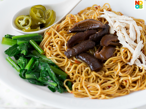 Shredded Chicken and Mushroom Noodle Recipe