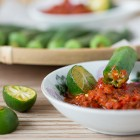 Lady Finger with Sambal Belacan Dip Recipe