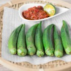 Okra with Sambal Belacan Dip Recipe