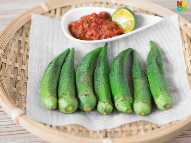 Okra with Sambal Belacan Dip Recipe