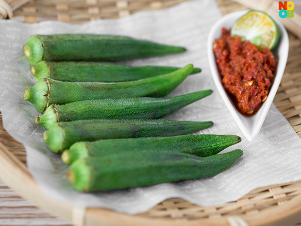 Lady Finger with Sambal Belacan Dip Recipe