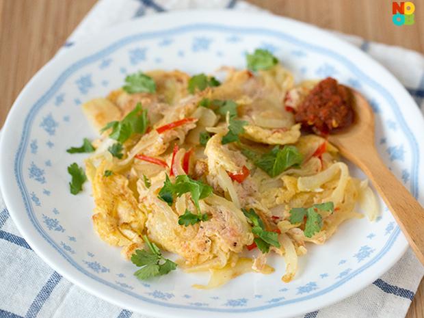 Cincalok Omelette Recipe