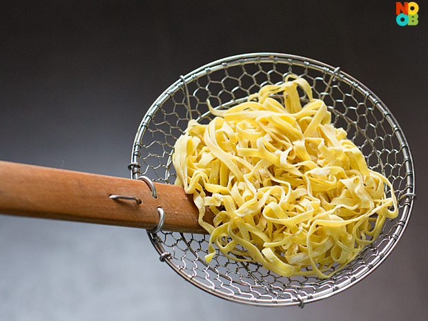 Mee Pok (Flat Egg Noodles)
