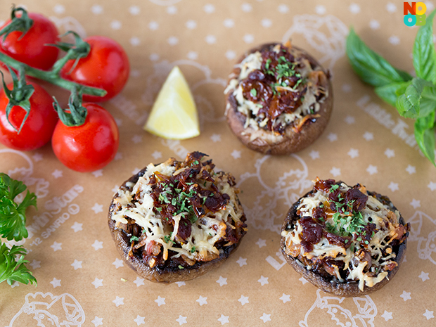 Sun-Dried Tomato Stuffed Mushrooms - Noob Cook Recipes