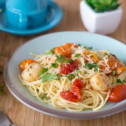 Cherry Tomato and Scallop Pasta Recipe