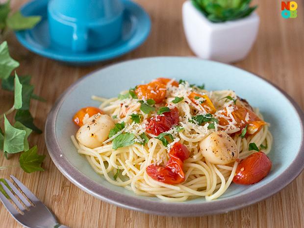 Cherry Tomato and Scallop Pasta Recipe