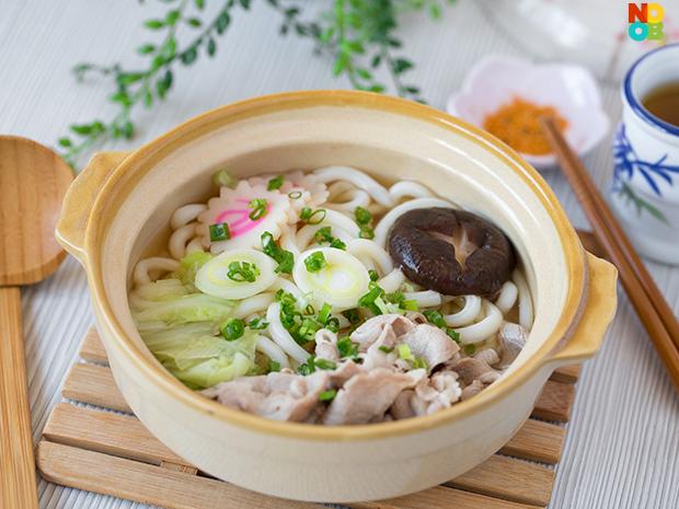 Udon Noodle Soup with Pork | Nabeyaki Udon Recipe