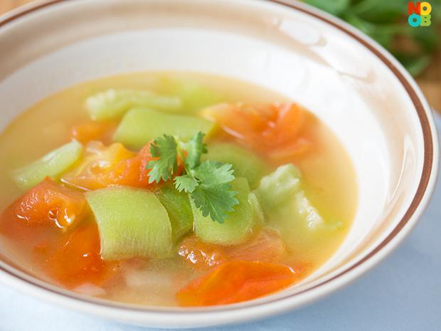 Luffa and Tomato Soup Recipe