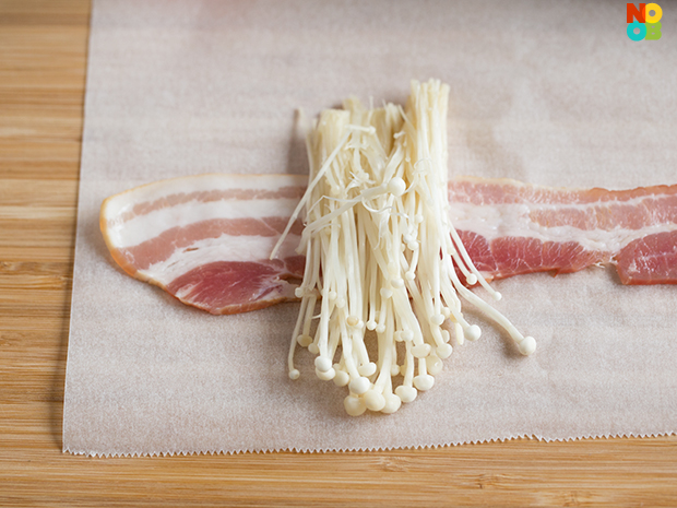 Bacon Wrapped Enoki Recipe Noob Cook Recipes