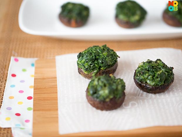 Portobello Stuffed Spinach Recipe