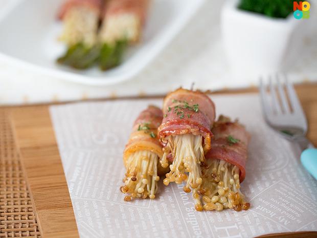 Bacon Wrapped Enoki Recipe