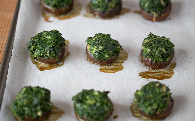 Portobello Stuffed Spinach Recipe