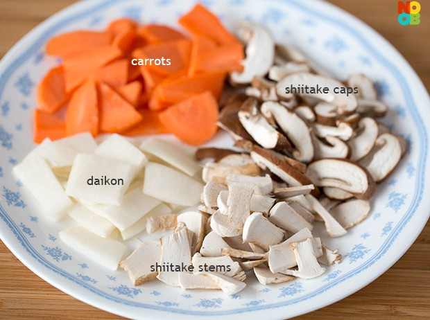 Tonjiru Recipe (Vegetables)