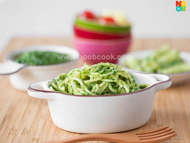 Spinach Pesto Spaghetti Recipe