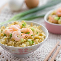 Shrimp & Egg Fried Rice Recipe