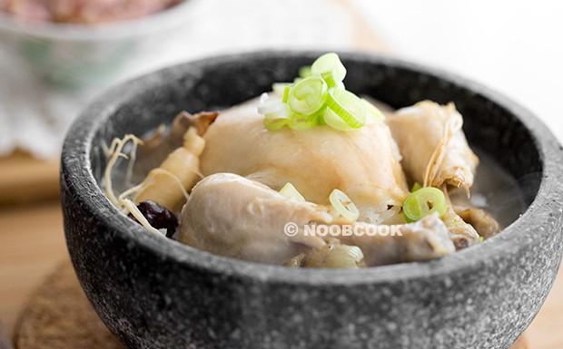 Korean Ginseng Chicken Soup (Samgyetang) Recipe