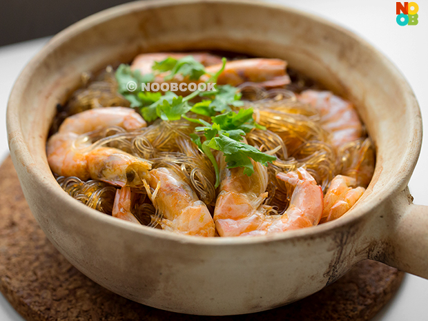 Thai glass noodles with prawns recipe