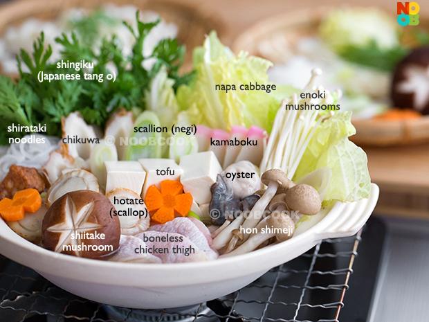 Yosenabe Recipe Ingredients