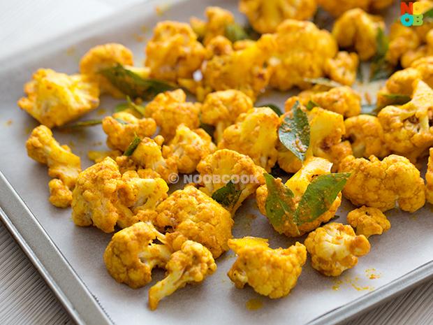 Roasted Curried Cauliflower Recipe