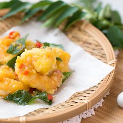 Golden Salted Egg Yolk Prawns Recipe