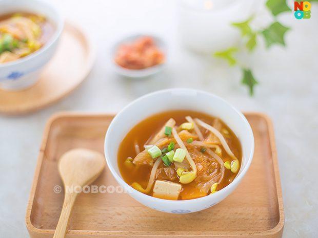 Korean Bean Sprout Kimchi Soup Recipe