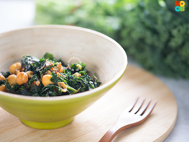 Sauteed Kale with Chickpea Recipe