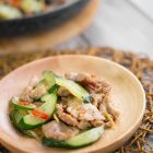 Stir-fry Pork with Cucumber Recipe