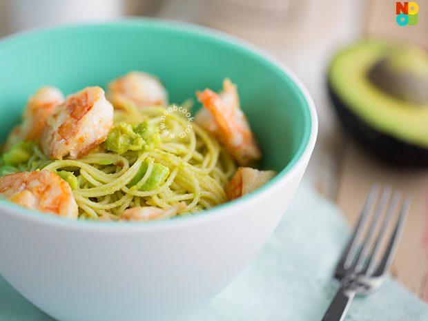 Avocado Shrimp Pasta Recipe