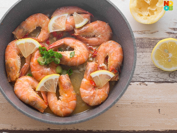 Chinese-style Lemon Prawns Recipe
