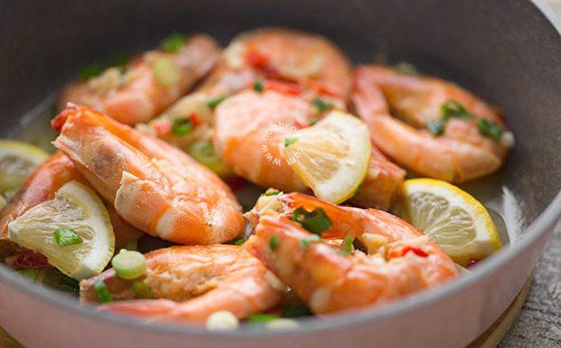 Hot & Sour Lemon Prawns Recipe