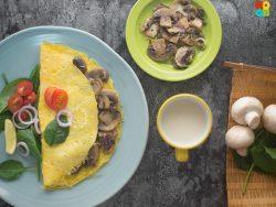 Button Mushroom Omelette Recipe