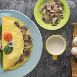 Button Mushroom Omelette Recipe