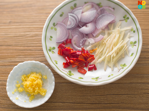 Aromatics for Beef & Chinese Broccoli Recipe